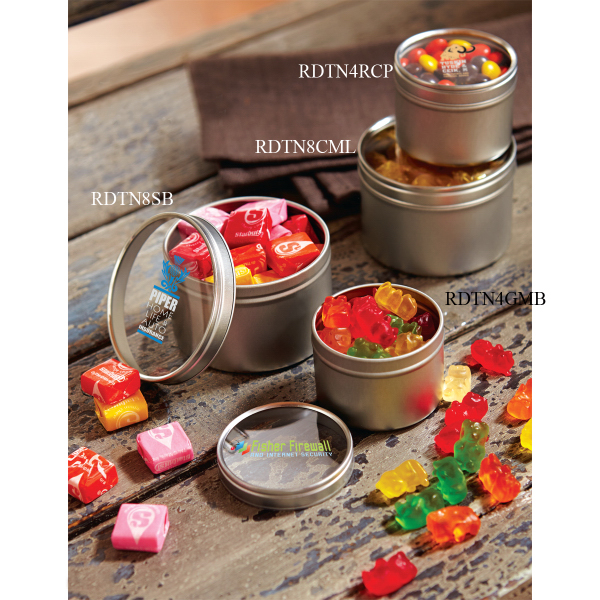 Promotional in Small Round Window Tin (empty)