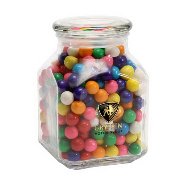 Customized Gum Balls in Large Glass Jar