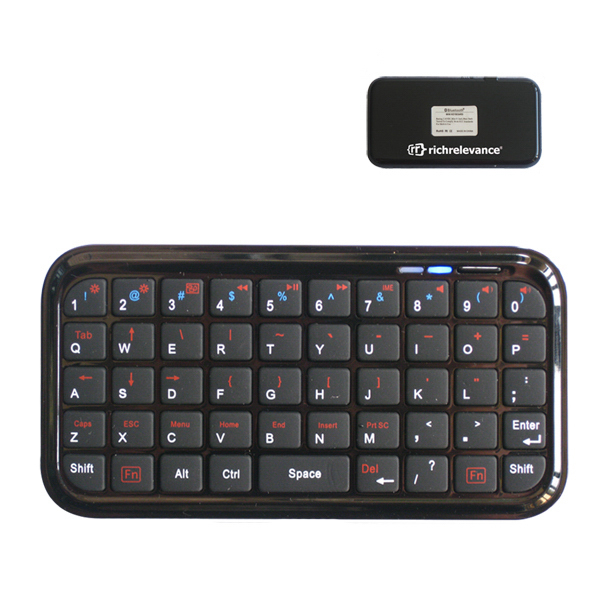 Printed Mini Wireless Bluetooth keyboard 4 PS3 iPhone PDA Nokia iPad
