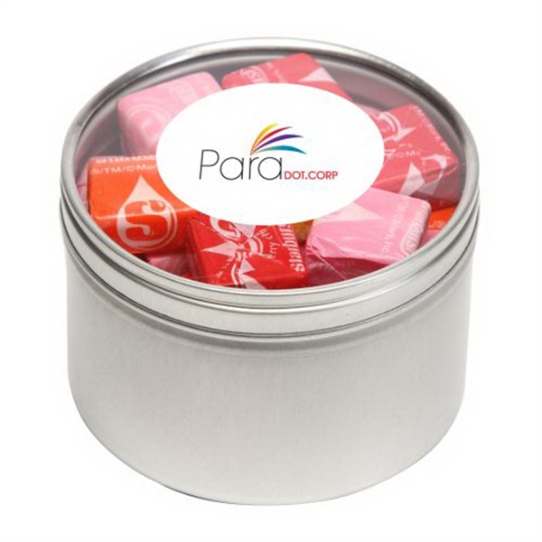 Custom Starburst in Large Round Window Tin