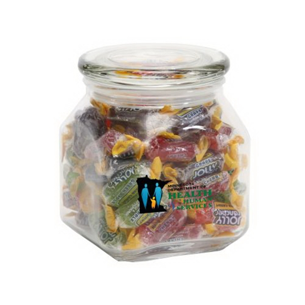 Personalized Jolly Ranchers in Medium Glass Jar