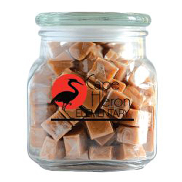 Promotional Caramels in Large Glass Jar