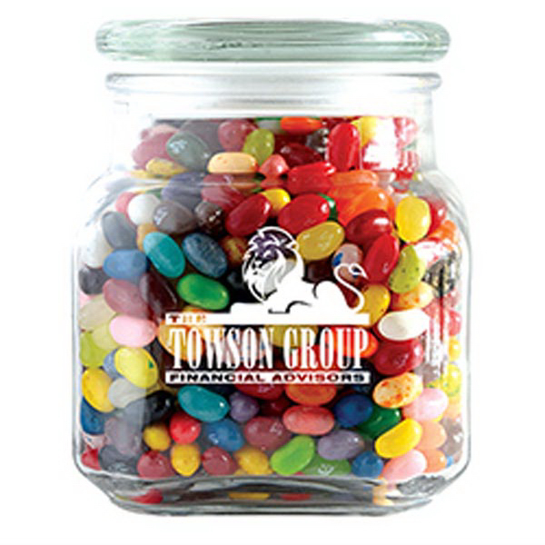Customized Jelly Bellys - Single Color in Large Glass Jar