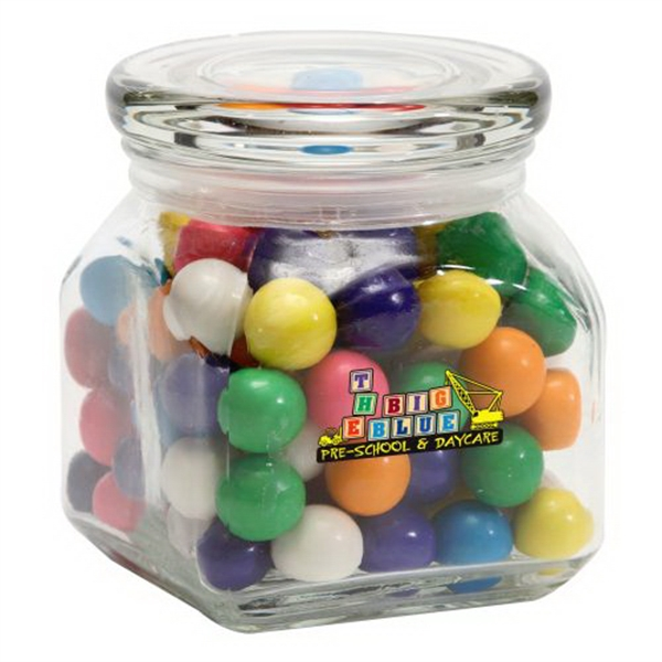 Personalized Gum Balls in Small Glass Jar