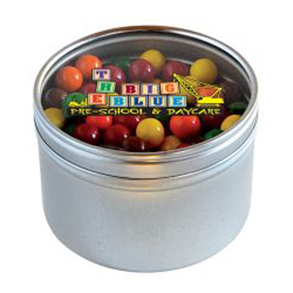 Personalized Sixlets in Large Round Window Tin
