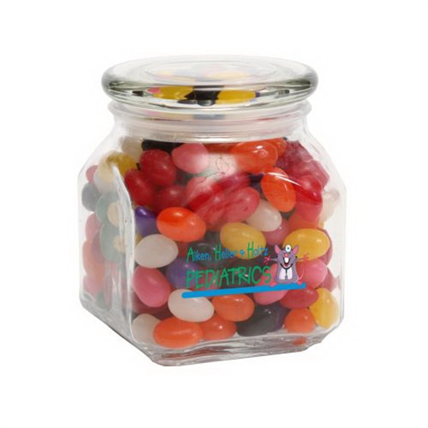 Printed Standard Jelly Beans in Medium Glass Jar