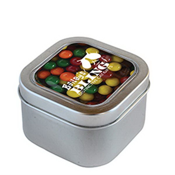 Personalized Sixlets in Small Square Window Tin