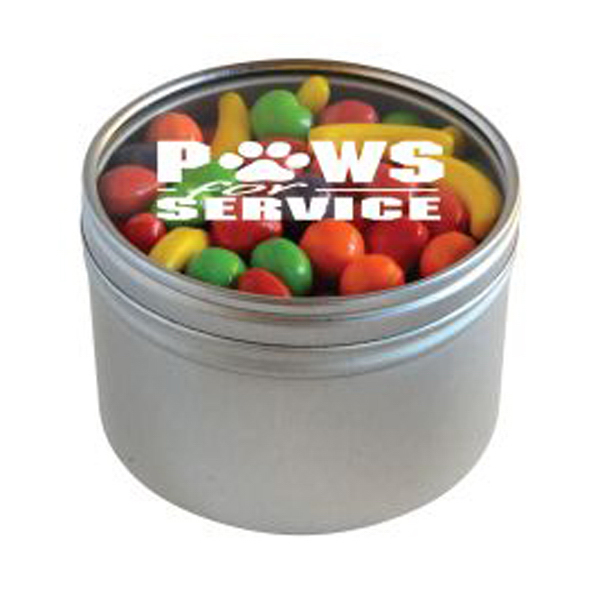 Personalized Runts in Large Round Window Tin
