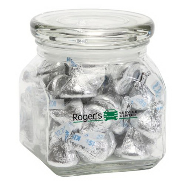 Promotional Hershey Kisses in Small Glass Jar