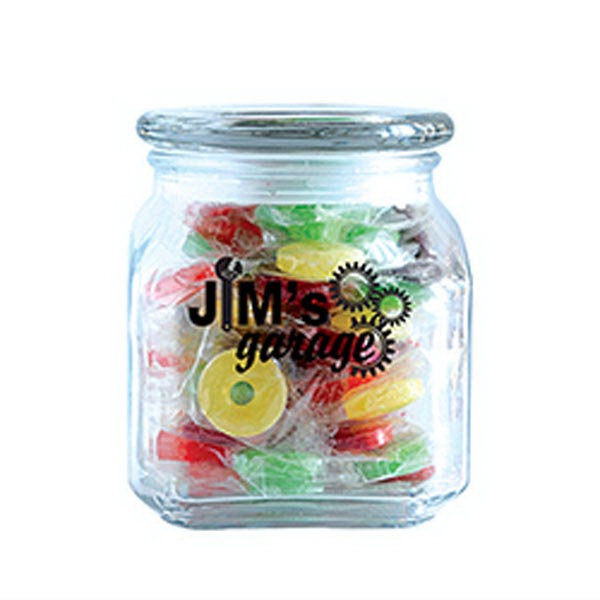 Customized Life Savers in Medium Glass Jar