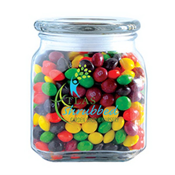 Personalized Skittles in Medium Glass Jar