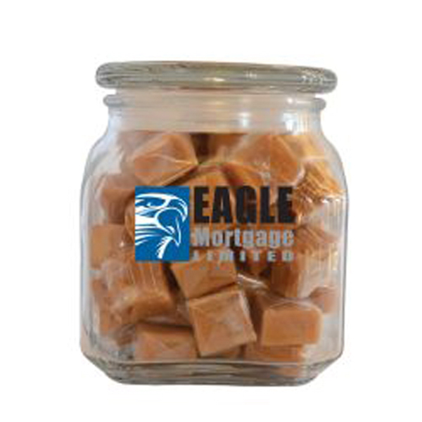 Personalized Caramels in Medium Glass Jar