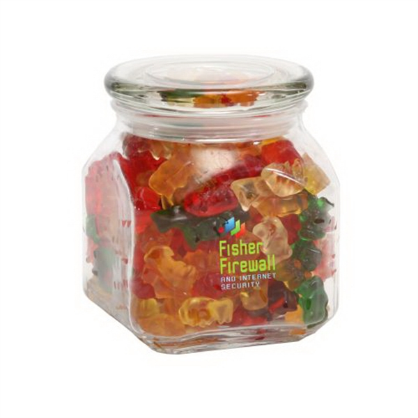 Personalized Gummy Bears in Medium Glass Jar