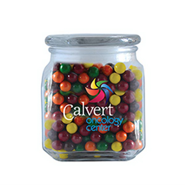 Promotional Sixlets in Medium Glass Jar