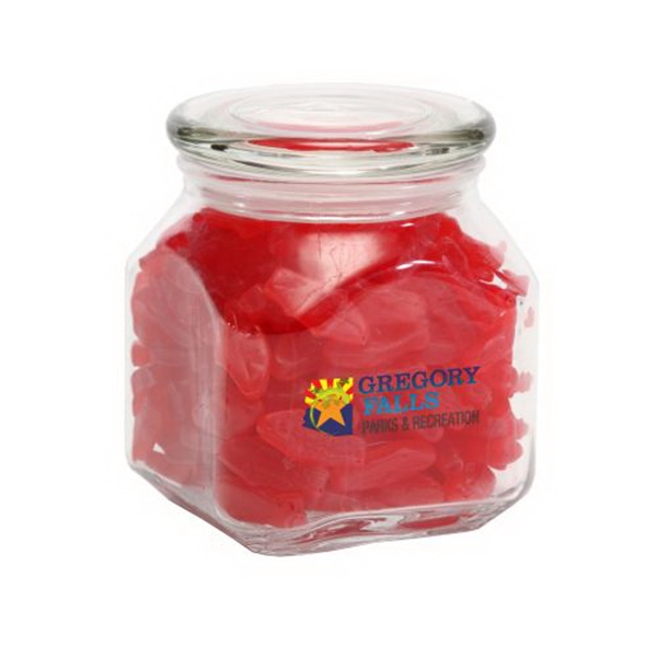 Imprinted Swedish Fish in Medium Glass Jar