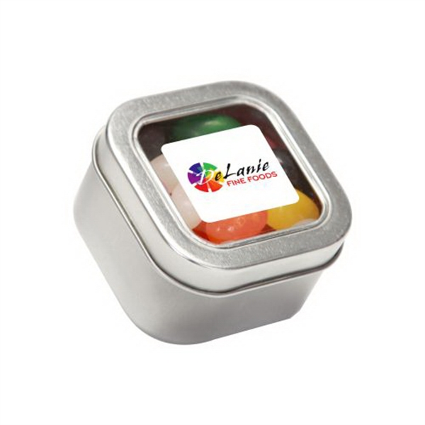Customized Standard Jelly Beans in Small Square Window Tin
