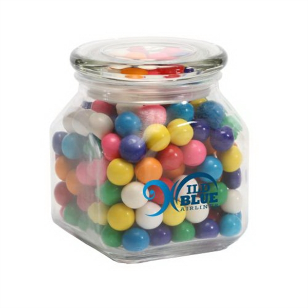 Imprinted Gum Balls in Medium Glass Jar