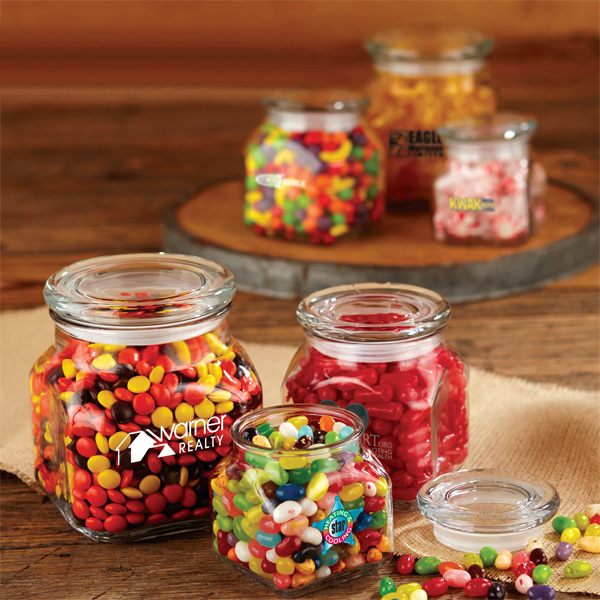 Personalized Sixlets - Single Color in Medium Glass Jar