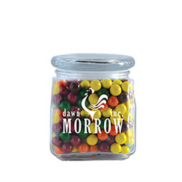 Promotional Sixlets in Small Glass Jar