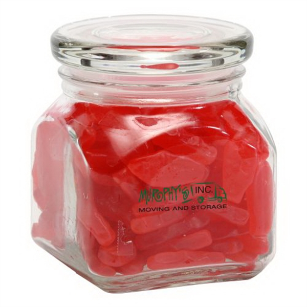 Customized Swedish Fish in Small Glass Jar