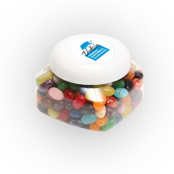 Imprinted Jelly Bellys in Large Snack Canister