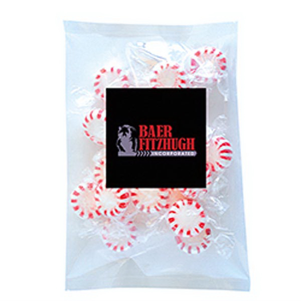 Personalized Striped Pepper Mints in Large Label Pack