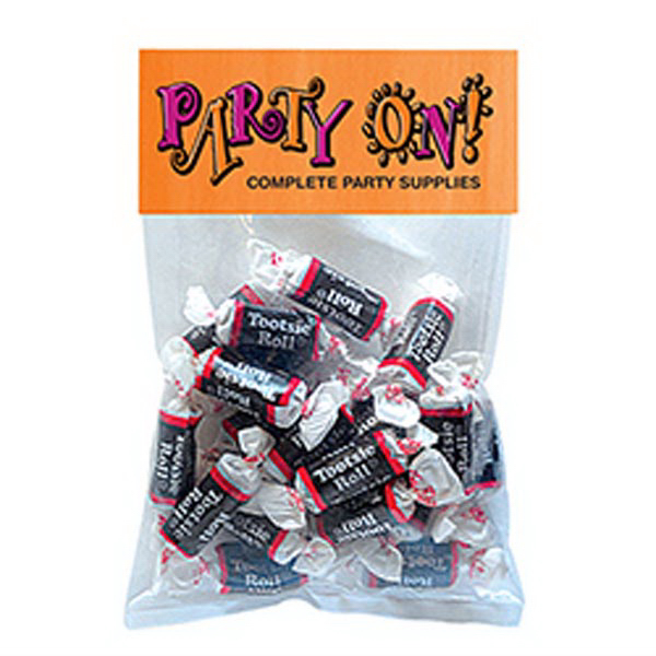 Custom Tootsie Rolls in Large Header Pack