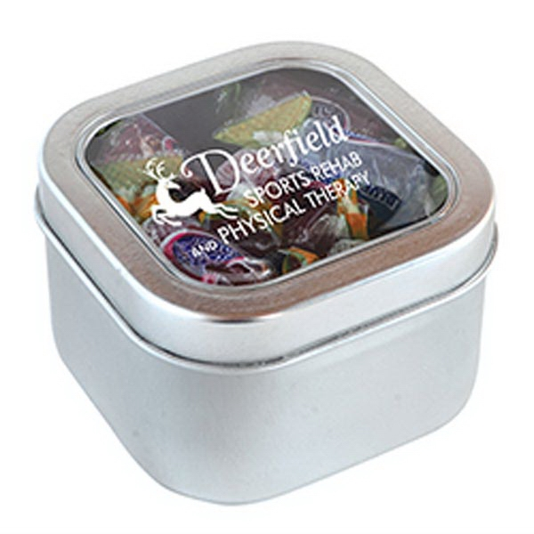 Custom Jolly Ranchers in Large Square Window Tin