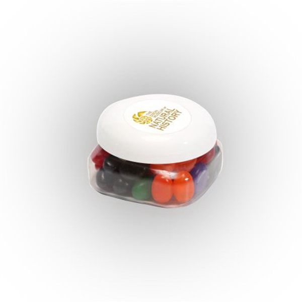 Imprinted Standard Jelly Beans in Small Snack Canister