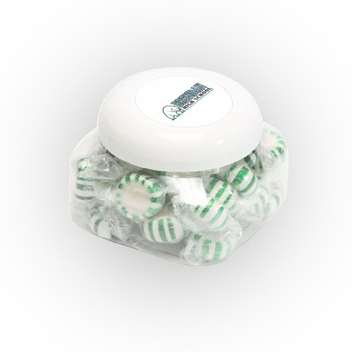 Personalized Striped Spear Mints in Large Snack Canister
