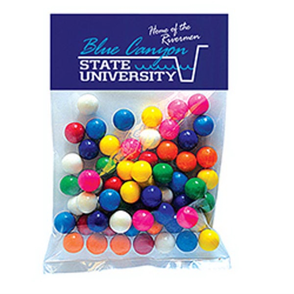 Imprinted Gum Balls in Large Header Pack