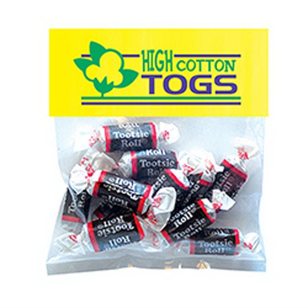 Promotional Tootsie Rolls in Small Header Pack