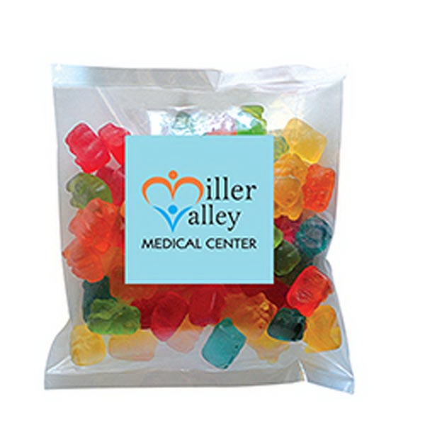 Custom Gummy Bears in Small Label Pack