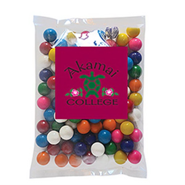 Promotional Gum Balls in Large Label Pack