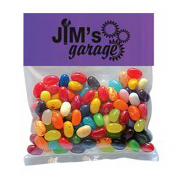 Customized Jelly Bellys in Small Header Pack