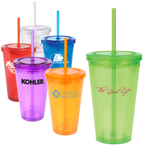 Promotional 16 oz. Double Wall Cool Acrylic Tumbler