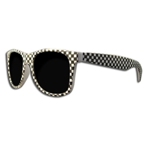 Customized Premium black and white sunglasses