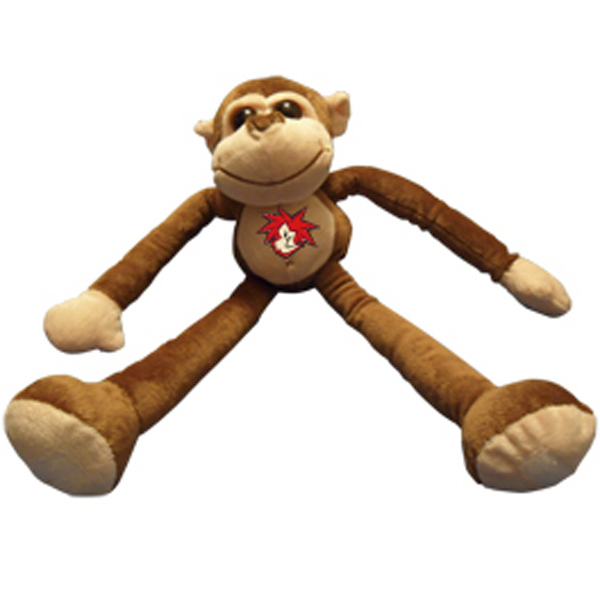 Printed Premium plush monkey with arms and legs