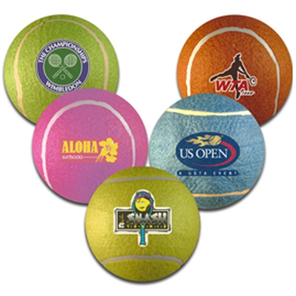 Personalized 5in assorted colored tennis balls