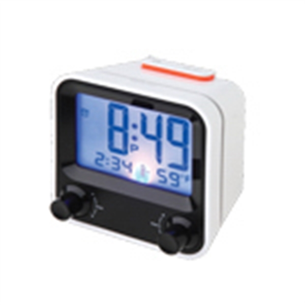 Custom Easy set alarm clock with thermometer