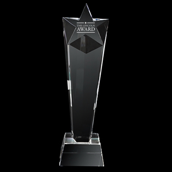 Promotional Crystal trophy (tall star)