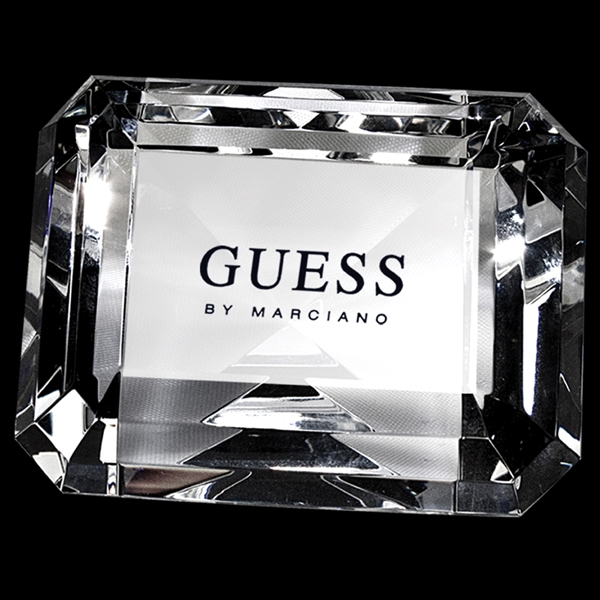 Custom Crystal paperweight (rectangle)