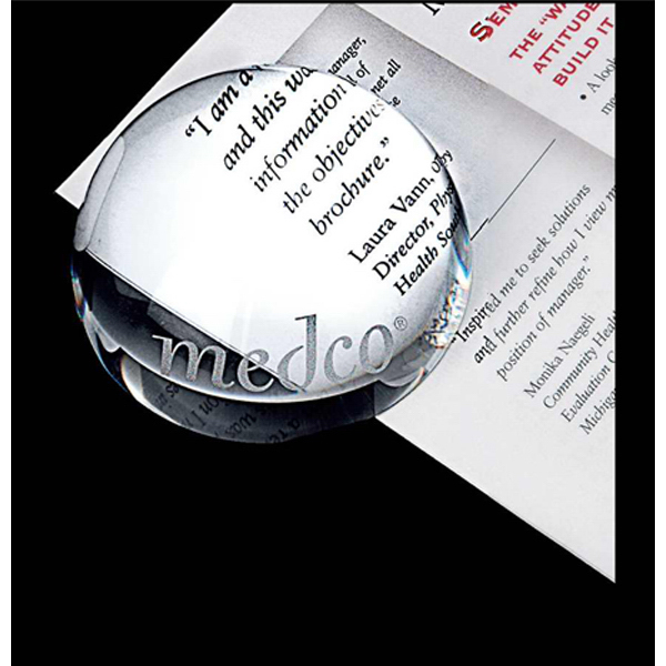 Promotional Crystal dome magnifier and paperweight
