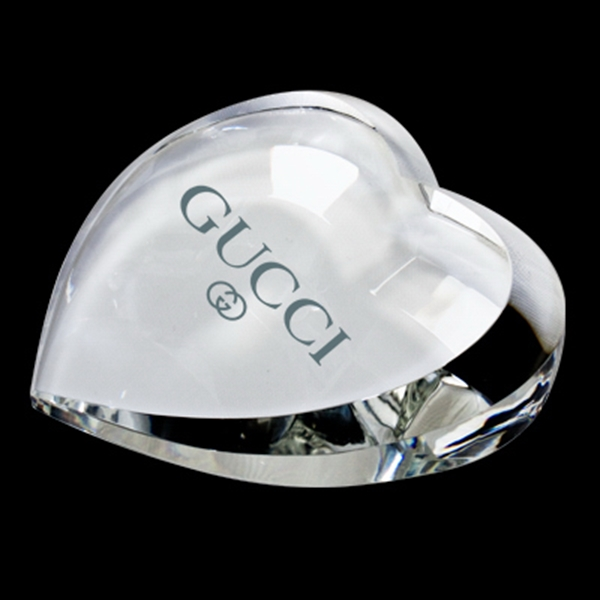 Custom Crystal paperweight (heart)
