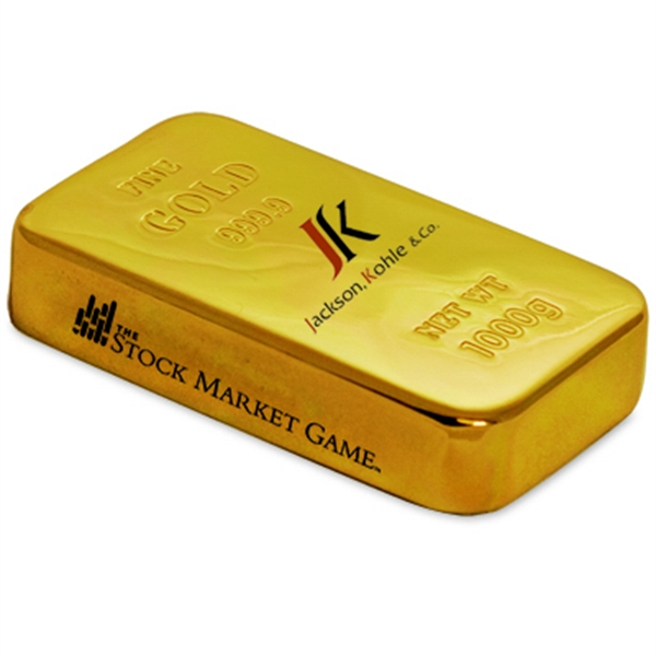 Promotional Gold bar paperweight