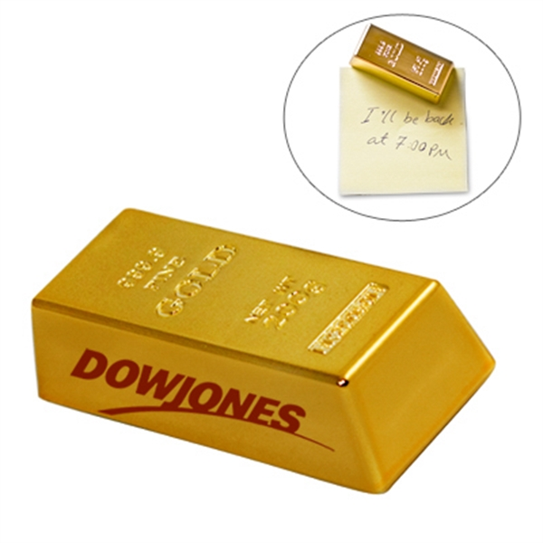 Imprinted Mini gold bar paperweight / magnet