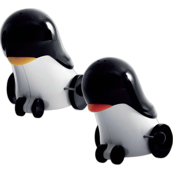 Printed Rolling penguin salt and pepper shakers