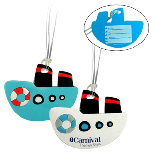 Custom Soft PVC Boat luggage tag