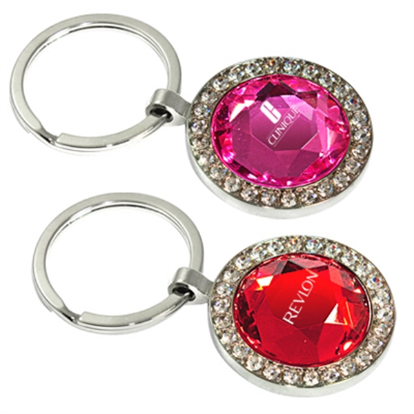 Promotional Round jewelry key chain