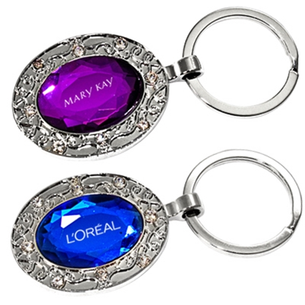 Custom Oval jewelry key chain
